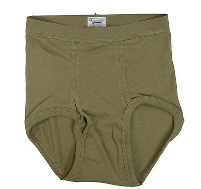 GI Military Mens Cotton Briefs Tan 499 NEW IRR 100 Combed Cotton 3 Pack