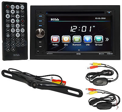 Boss Audio B9351WRC 6-2 In-Dash 2-Din DVD Receiver wBluetooth-Wireless Camera