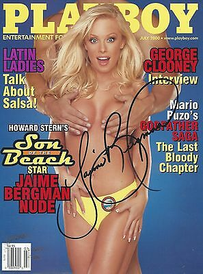 Playmate-Jamie Bergman-Autographed Playboy Cover