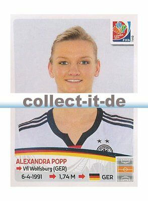 PANINI FRAUEN WM WORLD CUP 2015 STICKER 114 ALEXANDRA POPP