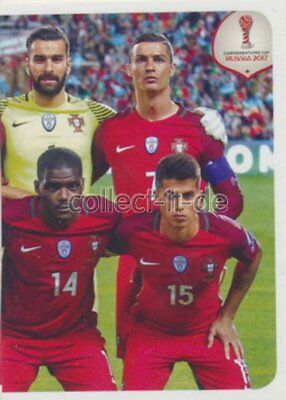 PANINI CONFEDERATIONS CUP 2017 STICKER 114 TEAM PORTUGAL