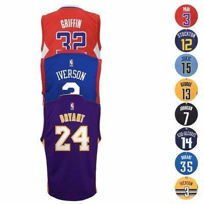 NBA Official Replica Basketball Player Jersey Collection by Adidas Boys SZ 4-7