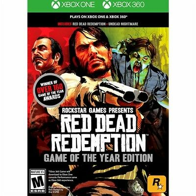 Red Dead Redemption Game of the Year Edition Xbox 360 Xbox One New Ships Fast