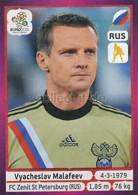 PANINI EM 2012 DEUTSCHE VERSION STICKER 114 VYACHESLAV MALAFEEV