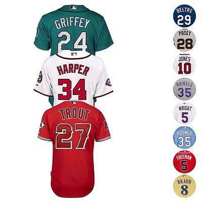 MLB Official Majestic Authentic On-Field Cool Base Team Player Mens Jersey 6300