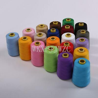 8000 Yards Industrial Overlock Sewing Machine Polyester Thread Sewing 20color