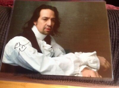 LIN-MANUEL MIRANDA SIGNED 8X10 PHOTO Signed at stage door