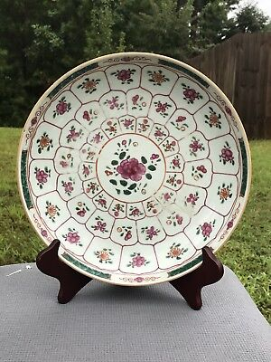 Antique Chinese Export Porcelain Famille Rose Painted Plate