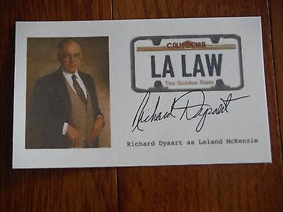 Richard Dysart Autographed LA Law 3x5 Paper  Hand Signed