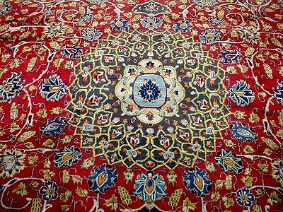9X12 1940s SPECTACULAR FINE HAND KNOTTED ANTIQUE GONBAD KASHMAR PERSIAN RUG