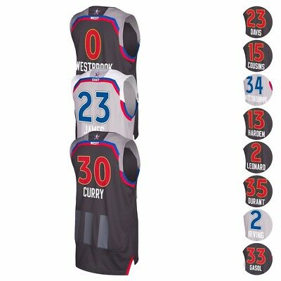 2017 NBA Adidas Official East - West All Star Climacool Swingman Jersey Mens