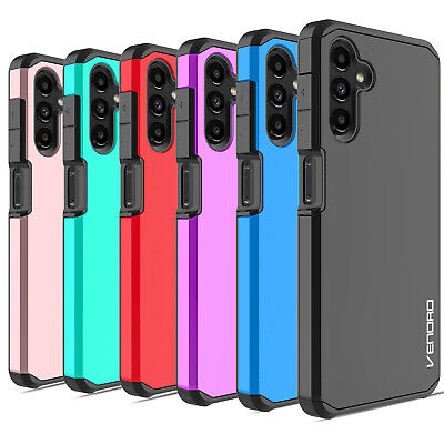 For Samsung Galaxy A12 Shockproof Hard Phone Case Cover  Glass Screen Protector