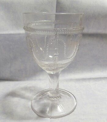 EAPG Clear Glass WineCordial 4 Tall a2