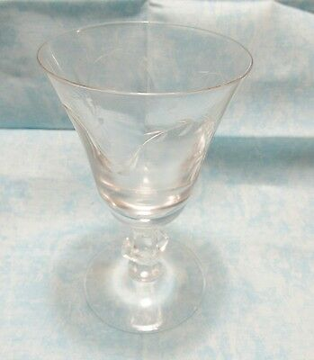 EAPG Clear Glass WineCordial 4-5 Tall a20