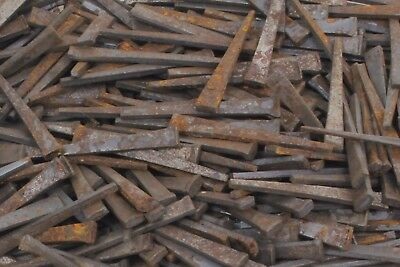 Vintage Antique Square Cut Steel Nails - 2 Long - Lot of 50 Nails - 18 Thick