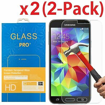 2-Pack Premium Tempered Glass Screen Protector for Samsung Galaxy S5