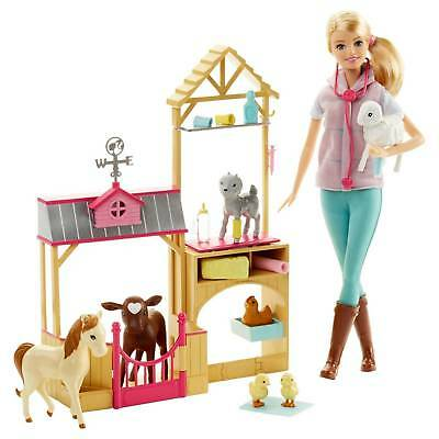 Barbie-174 Careers Farm Vet Doll and Playset