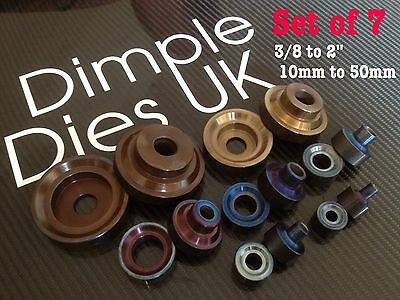 7 Dimple Die Set 3/8 1/2 5/8 3/4 1 1 1/2 2 Hole Swager Flare Autograss