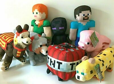 Large Minecraft Plush 11- 23 Stuffed Animal Toys -NEW- Licensed- Rare