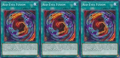 Red-Eyes Fusion LEDU-EN006 X 3 Mint 1st yugioh Common Cards