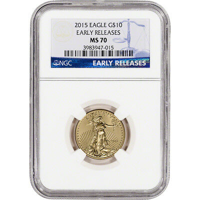 2015 American Gold Eagle 14 oz 10 - NGC MS70 - Early Releases
