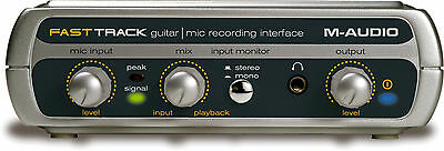 M-Audio Fast Track Guitar  Microphone Recording Interface USB with cable NEW