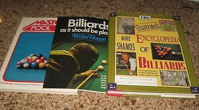 Lot 6 Billiards Pool Books Two by The Monk One Signed  The 8-Ball Book
