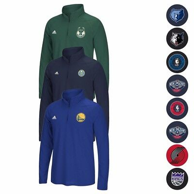 NBA Adidas Tip-Off Team Logo Climalite Ultimate Performance 14 Zip Jacket Mens