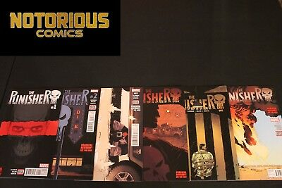 Punisher 1 2 3 4 5 6 Complete Comic Lot Run Set Marvel Collection Cloonan