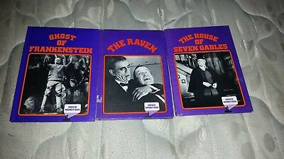 LOT OF 3 MONSTER SERIES BOOKS BY  CRESTWOOD HOUSE FROM THE 1980s