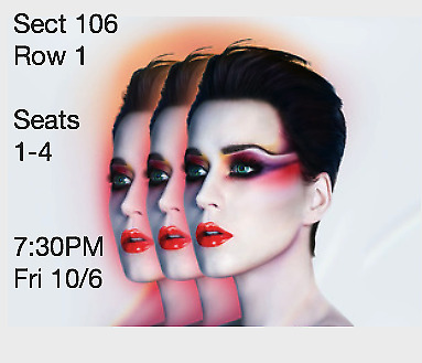 4 Tickets Katy Perry 10617 Madison Square Garden New York City  730 PM