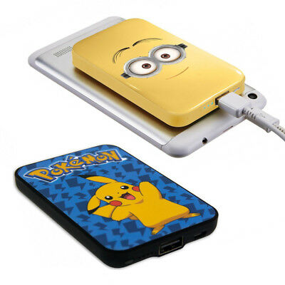 Minions P Bank & Cable 4000 mAh DESPICABLE ME Smart phone Tablet Pokemon