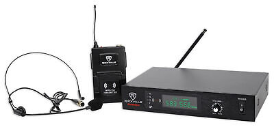 Rockville RWM60U Professional UHF Headset - Guitar Wireless Microphone System