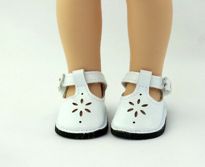 White Flower Dress Shoes Fits Wellie Wishers 14-5 American Girl Clothes Shoes
