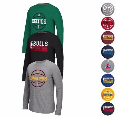 NBA Adidas Climalite Performance Long Sleeve Ultimate Tee Collection Mens