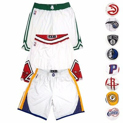 NBA Adidas Authentic On-Court Team Issued Home Pro Cut Game Shorts Mens