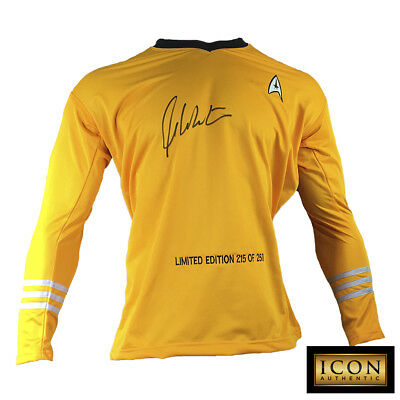 WILLIAM SHATNER SIGNED AUTOGRAPH STAR TREK CAPTAIN KIRK SHIRT UNIFORM PSADNA