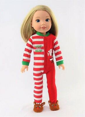 Santas Little Helper Outfit Fits Wellie Wishers 14-5 American Girl Clothes