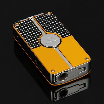 COHIBA Yellow Classic 3 Torch Jet Flame Cigar Lighter W Punch New Design