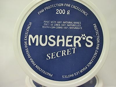 Mushers Secret Dog Paw Protection 100 Natural Waxes 200 Gram Size Brand New