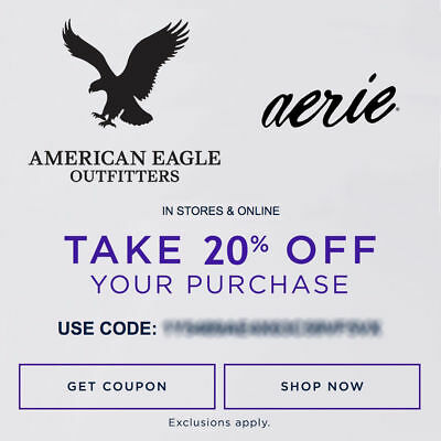 20 OFF American Eagle Outfitters - Aerie Promo-Coupon Code Ex 12518