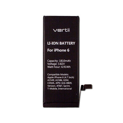 Replacement Li-ion Battery w Adhesive for Apple iPhone 6 4-7 A1549 A1586 A1589