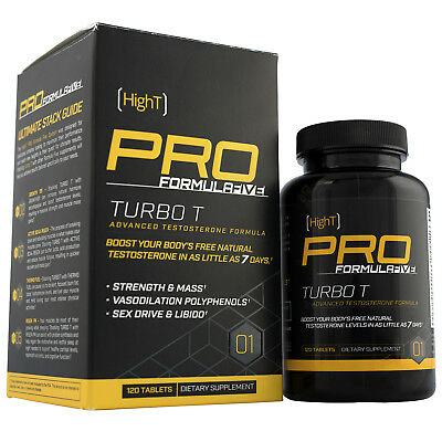 High T PRO TURBO T - Advanced Natural Testosterone Booster 120 Capsules