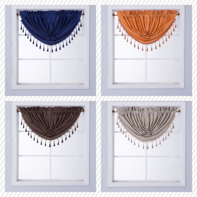 1 Small Swag Waterfall Insulated Foam Lined Blackout Rod Pocket Window Valance