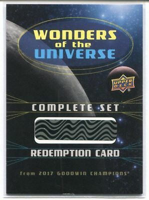 2017 UD GOODWIN CHAMPIONS WONDERS OF THE UNIVERSE COMPLETE SET REDEMPTION