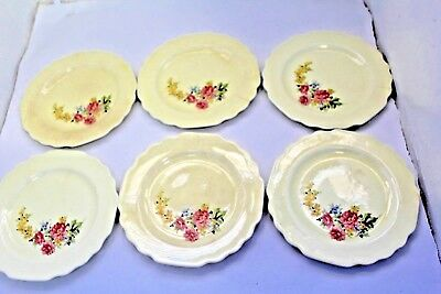 LIDO W-S- GEORGE CANARYTONE 6 12 BREAD -  BUTTER PLATES SIX