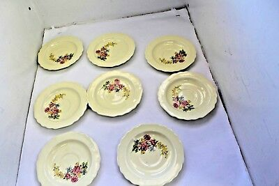 LIDO W-S- GEORGE CANARYTONE 6  SAUCERS NO CUPS EIGHT