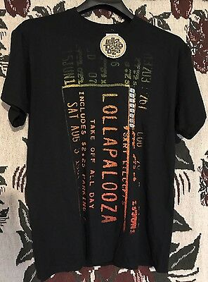 NWT Lollapalooza T-Shirt Mens Size Large with Tags black Concert Music Festival