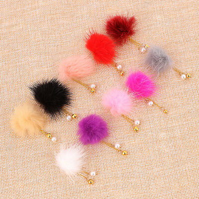 3D Fur Ball Nail Art Tips Magnet Removable Women Charms Accessories DIY Making