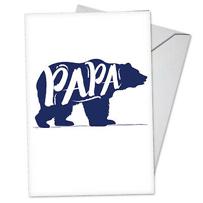 1 Funny Fathers Day Card with Envelope - Papa Bear C3460FDG